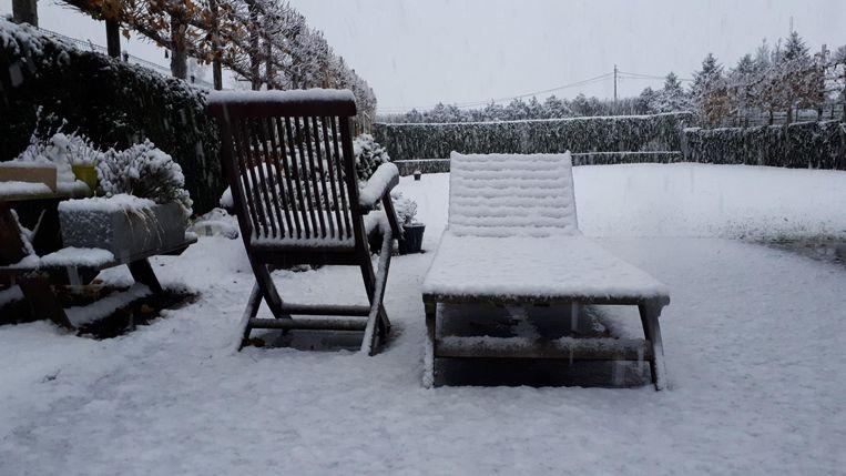 In Sint-Lievens-Houtem lag er zo'n drie centimeter sneeuw.