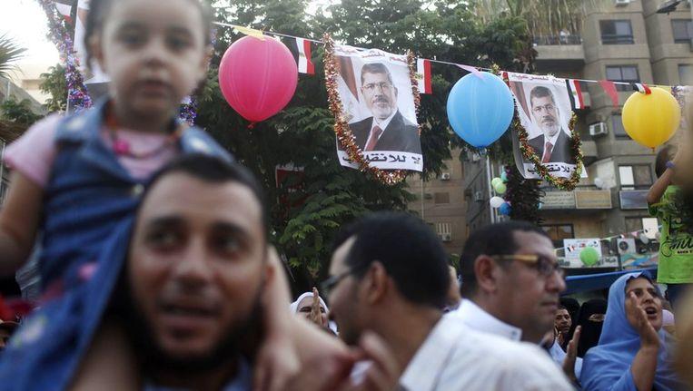 Aanhangers van Morsi in Caïro, vandaag. Beeld reuters