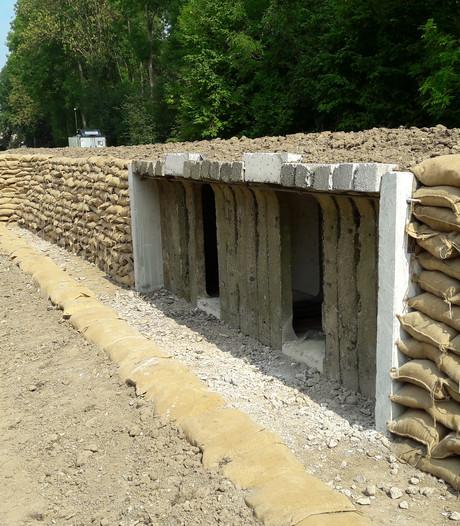 Indrukwekkende loopgraaf bij Fort Giessen