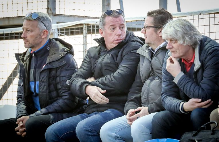 Didier Frenay, hier naast Luc Devroe en Marc Coucke.