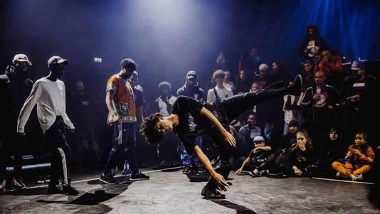 Breakdancer Jean tijdens een ander optreden.