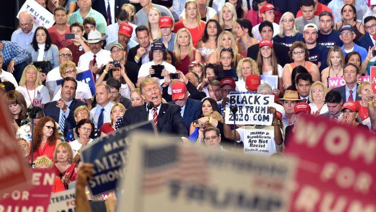 Donald Trump in Phoenix. Beeld AFP