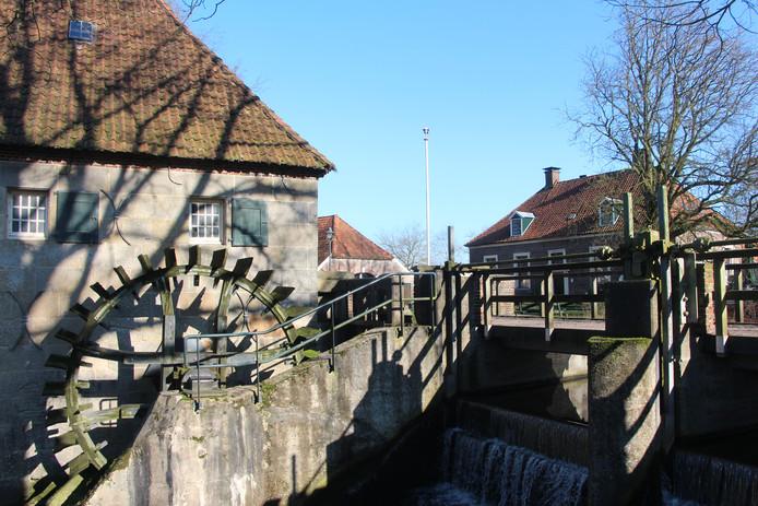 Links de Mallumse Molen, rechts Het Muldershuis.