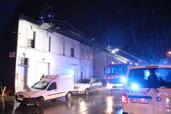 De brandweer rukte uit naar de Roeselaarsestraat.