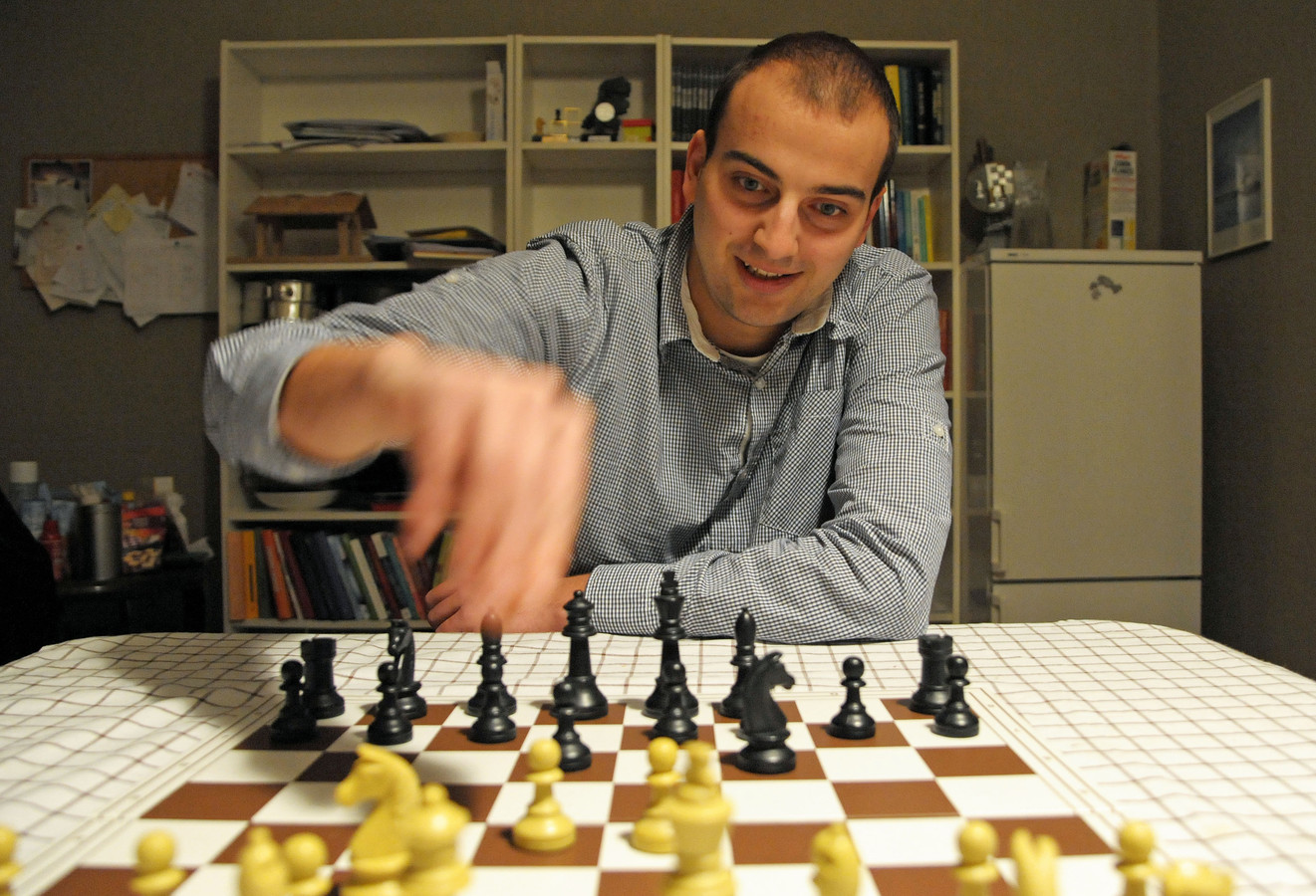 Koen Leenhouts is één van de schakers die namens HWP meedoet in Montenegro.