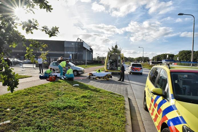 De vrouw raakte door het ongeluk gewond aan haar been.