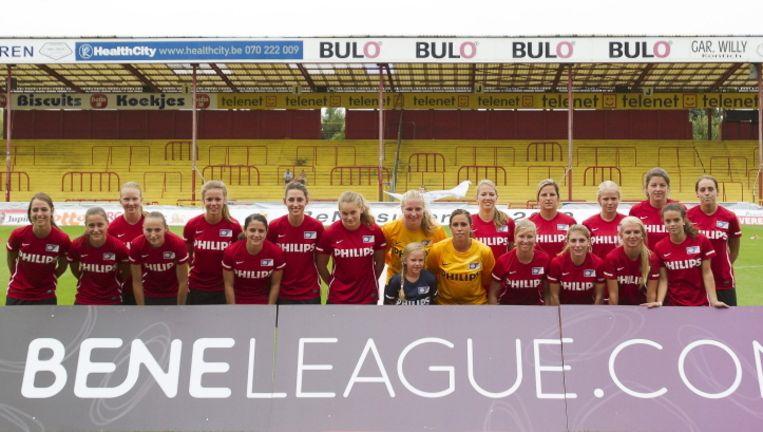 Het vrouwenteam van PSV. Beeld Pro Shots