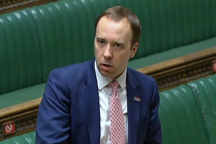 Matt Hancock, ministre britannique de la Santé.