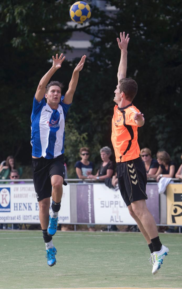 Marvyn Toonen in actie voor KV Wageningen