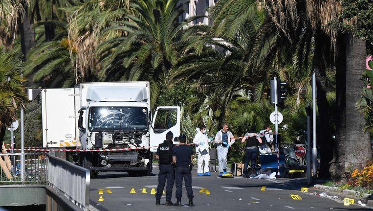 De plaats delict op de ochtend na de aanslag. Beeld afp