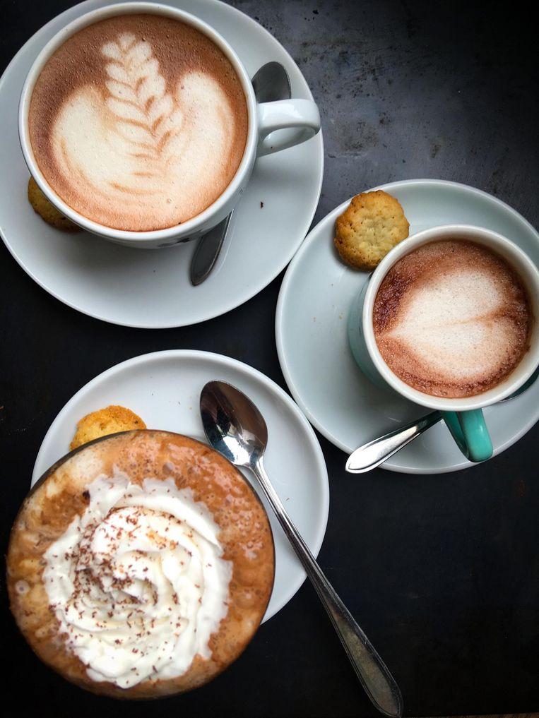 Warme chocolademelk van de Koffie en de Koeck Beeld Koffie en de Koeck