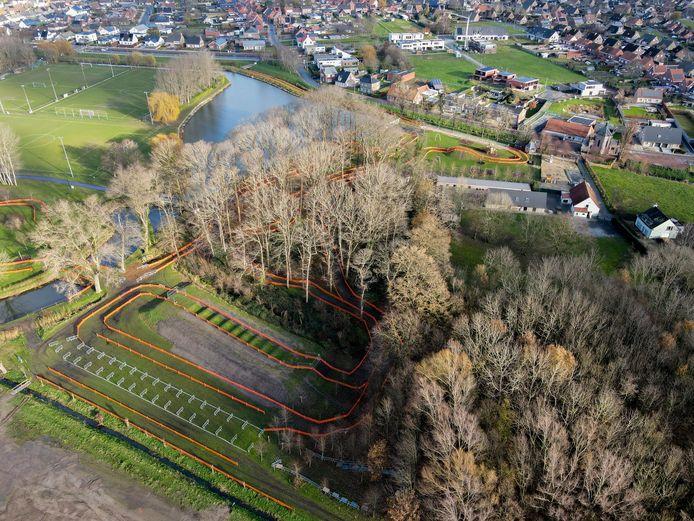 Het parcours van het BK Cyclocross op domein Ter Borcht in Meulebeke.