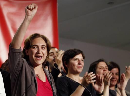 Barcelona's activistische leidster Ada Colau