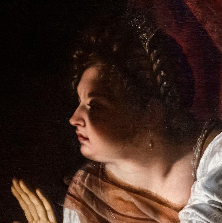 De schaduw op het gezicht van de bijbelse Judith.   Beeld Alamy Stock Photo