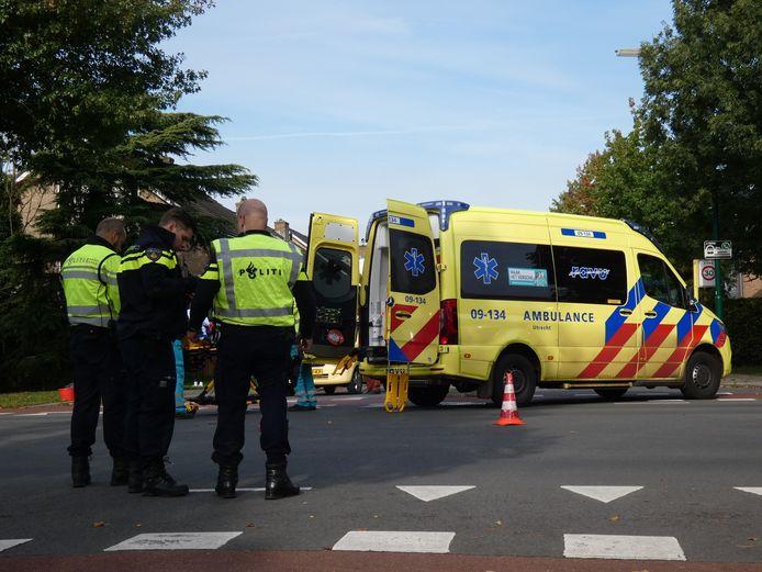 Hulpdiensten na het ongeval.