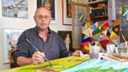 """Johnny (63) stelt voor het eerst zijn schilderijen tentoon: """"Ik heb geen vaste stijl, soms eens figuratief, dan eens abstract"""""""