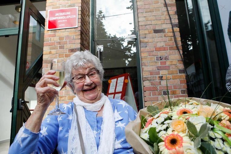 Jacqueline Compernolle kreeg een paar jaar geleden nog tijdelijk een plein naar zich vernoemd.