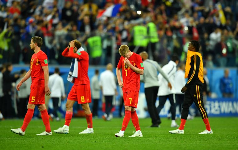 Soccer Football - World Cup - Semi Final - France v Belgium - Saint Petersburg Stadium, Saint Petersburg, Russia - July 10, 2018  Belgium's Kevin De Bruyne looks dejected after the match                       REUTERS/Dylan Martinez © PHOTO NEWS / PICTURE NOT INCLUDED IN THE CONTRACTS  ! only BELGIUM !