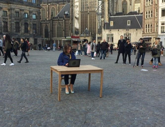 Cécile Narinx maakt de test.