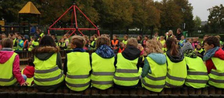 De klimaatbende hield een startdag in het Sint-Annapark.