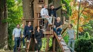 Koordlopers op meer dan 10 meter hoogte tussen de bomen van het Noordhof dankzij Plein Publique