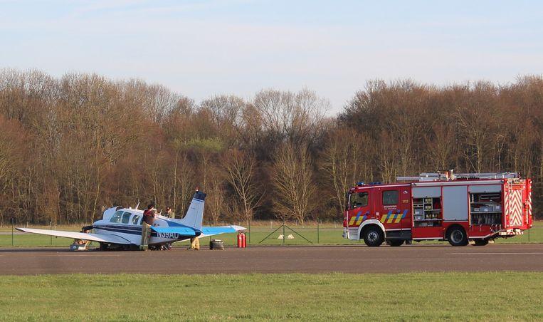 Brandweerzone Zuid West Limburg kwam na de buiklanding ter plaatse voor een controle