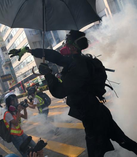 Demonstratie Hongkong eindigt in chaos