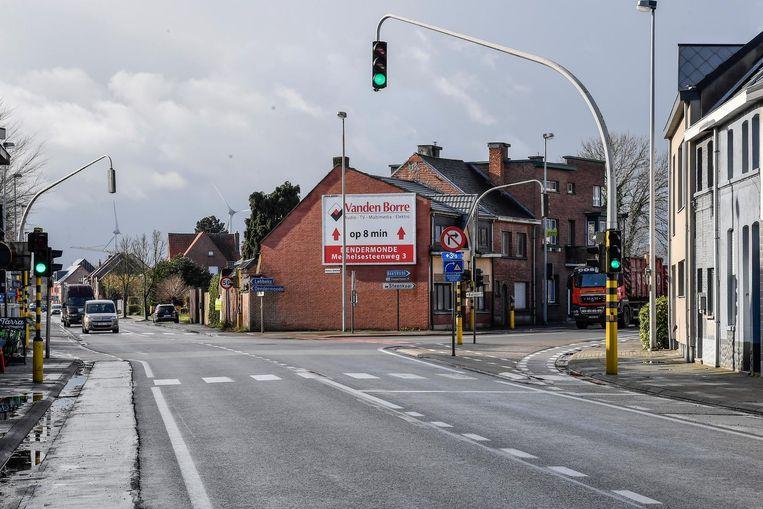 Het kruispunt aan de Fabriekstraat .