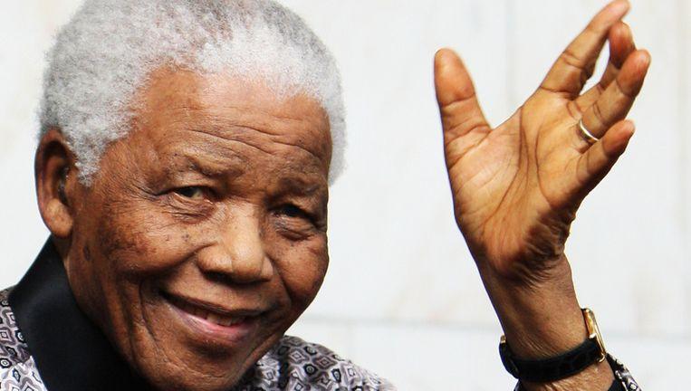 Mandela in 2008 in Londen. Beeld getty