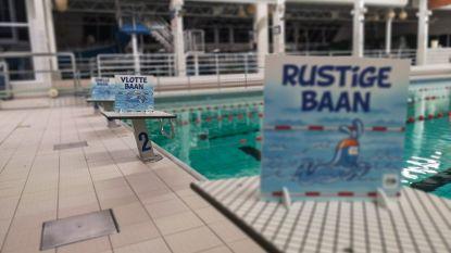 Signalisatie voor baantjeszwemmers in Olympos
