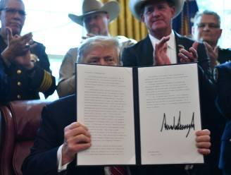 Trump gebruikt voor het eerst vetorecht om muur te kunnen financieren