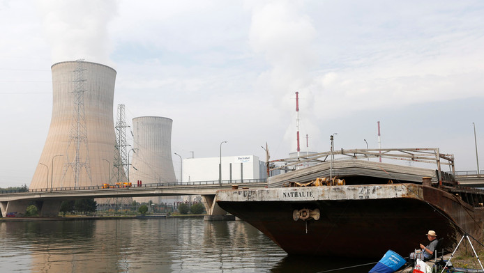De Belgische kerncentrale Tihange.