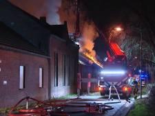 Brand in Tegelen, drie gewonden