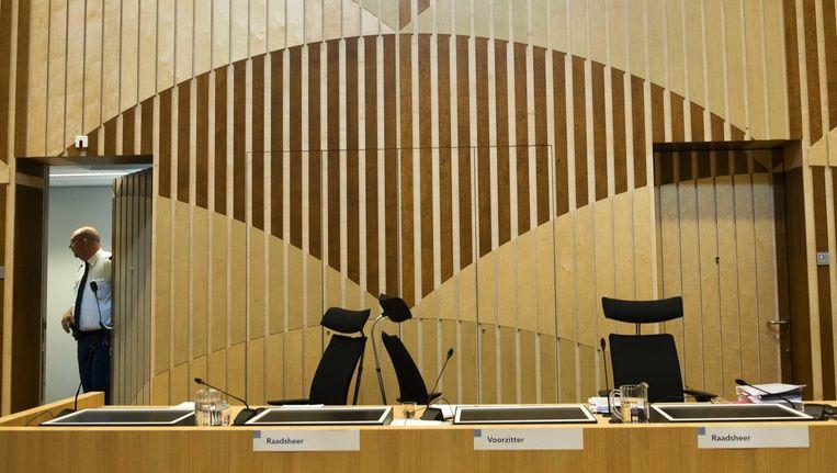 De lege rechtbank in het Justitieel Complex op Schiphol. Beeld anp