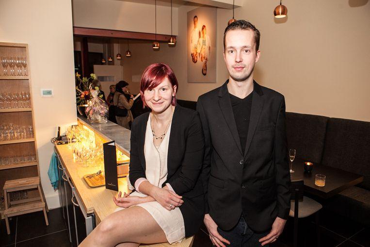 Tom Van Lysebettens en Alison Roels in hun nieuwe restaurant Cochon de Luxe in Gent.