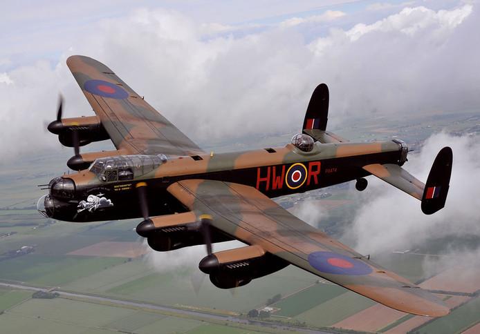 Een Lancaster ND559, het type dat werd neergeschoten.