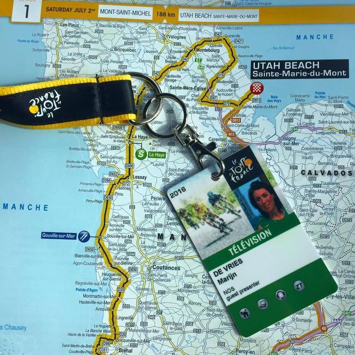 Met de accreditatie op zak heeft De Vries haar route door Frankrijk uitgestippeld. eigen foto's