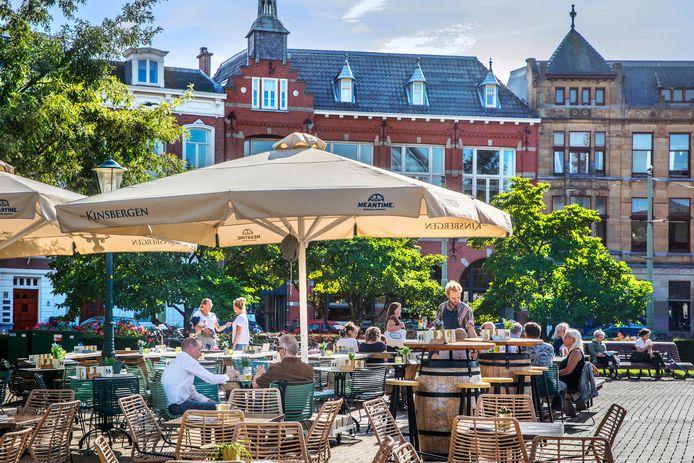 Terrassen in Den Haag mogen worden uitgebreid, als iedereen het ermee eens is