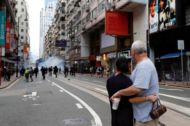 Archiefbeeld van protesten in Hongkong