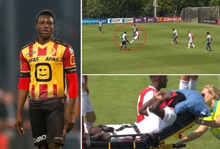 Bandé liep zijn zware blessure op in een oefenmatch tegen Anderlecht.