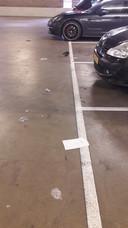 Rommel in de parkeergarage Tolbrug