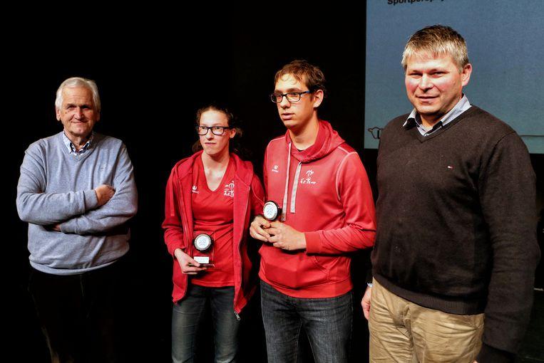 Eliese Ceulemans en Hannes Verbruggen kregen de Sportpersprijs.