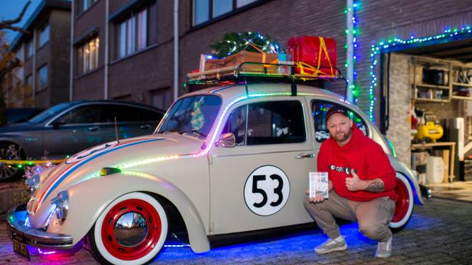 Verlichte 'Deaf Herbie' van Björn (35) brengt kerstmagie in Hoevenen
