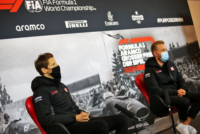 Romain Grosjean en Kevin Magnussen.
