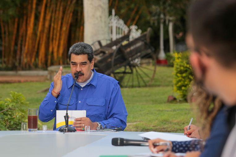 President Nicolas Maduro beschouwt EU-sancties tegen Venezuela als inmenging. Beeld via REUTERS