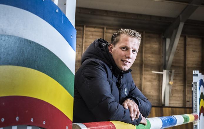 Springruiter Remco Been, winnaar van de Grote Prijs van Indoor Zwolle.