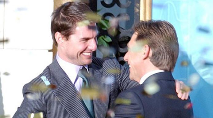 Scientology-leider David Miscavige (r.) is een goede vriend van Tom Cruise.