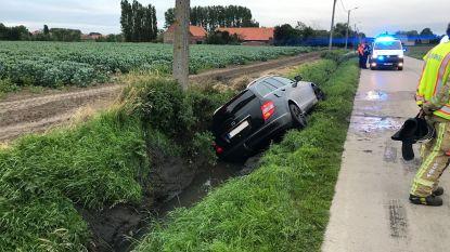 Bestuurder (37) verliest controle over stuur en eindigt in sloot