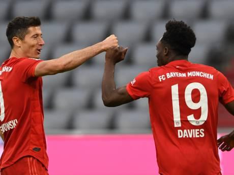 Le Bayern cartonne grâce à un doublé de Lewandowski et se dirige vers un hutièmee titre consécutif