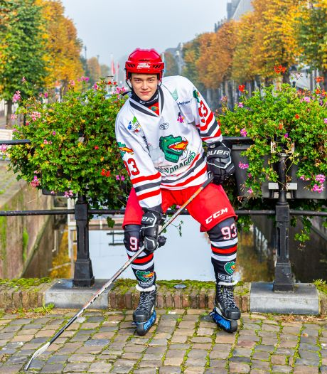 Schoonhovenaar Gatien (15) groeide in Canada op met de ijshockeystick en behoort tot de top